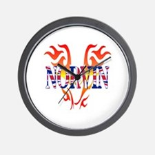 Norvin British Iron Wall Clock