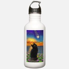 Black Cat Star Gazing Water Bottle