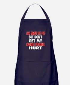 Don't Get My Sussex Spaniel Dog Hurt Apron (dark)