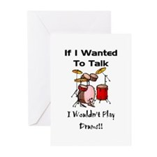 If I wanted to talk, drums Greeting Cards (Pk of 2