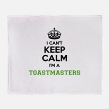 Toastmasters I cant keeep calm Throw Blanket