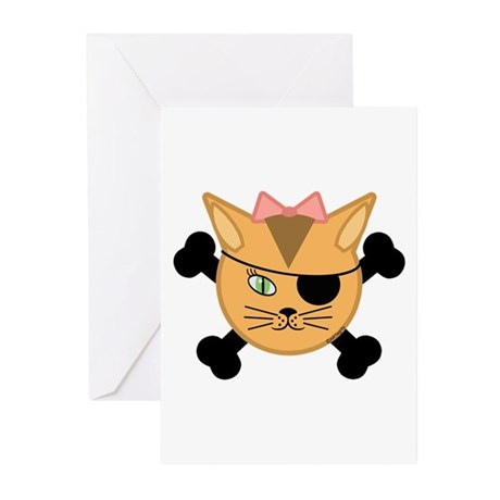 Carleigh's Pirate Kitty Greeting Cards (Pk of 10)