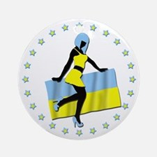 Sexy Girl Ukraine 1 Ornament (Round)