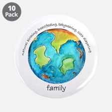 "Earth Mama 3.5"" Button (10 pack)"