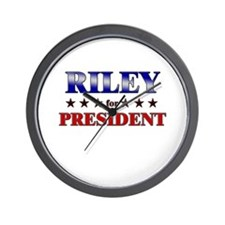 RILEY for president Wall Clock