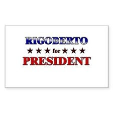 RIGOBERTO for president Rectangle Decal
