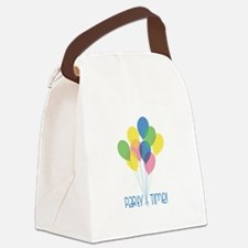 Party Time Canvas Lunch Bag