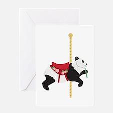 Carousel Panda Greeting Cards