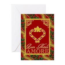 Buon Natale Amore Italian Xmas Greeting Cards