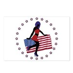 Sexy Girl America 1 Postcards (Package of 8)