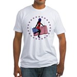 Sexy Girl America 1 Fitted T-Shirt