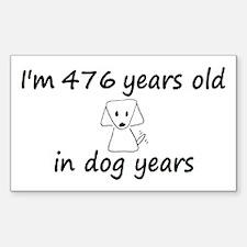 68 Dog Years 6-3 Decal