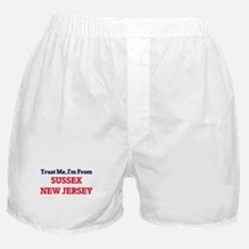 Trust Me, I'm from Sussex New Jersey Boxer Shorts