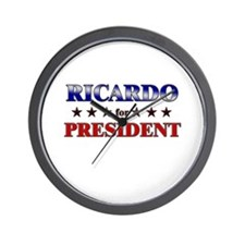 RICARDO for president Wall Clock