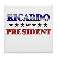 RICARDO for president Tile Coaster