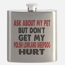 Don't Get My Polish Lowland Sheepdog Dog Hur Flask