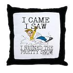 I came, I saw Throw Pillow