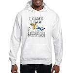 I came, I saw Hooded Sweatshirt