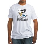 I came, I saw Fitted T-Shirt