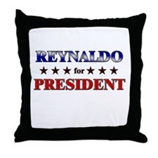 REYNALDO for president Throw Pillow