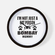 I'm a Bombay Mommy Wall Clock