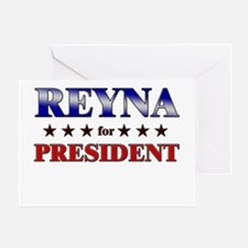 REYNA for president Greeting Card