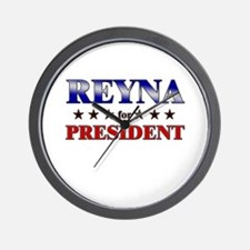 REYNA for president Wall Clock