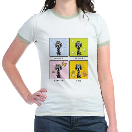 4 Season Weimaraner Jr. Ringer T-Shirt