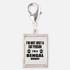 I'm a Bengal Mommy Silver Portrait Charm