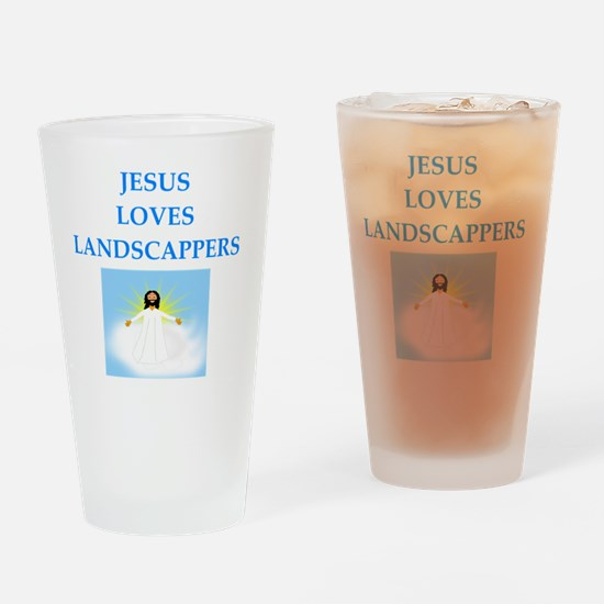 Cute Jesus lover Drinking Glass