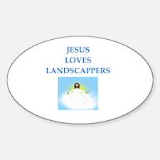 Unique Jesus lover Sticker (Oval)
