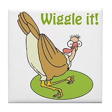 Wiggle It Funny Turkey Tile Coaster