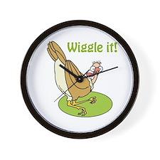 Wiggle It Funny Turkey Wall Clock