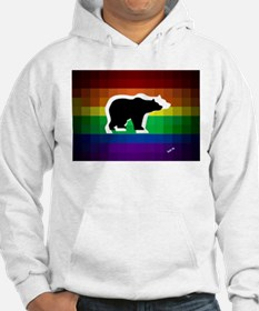 gay rainbow bears art Hoodie