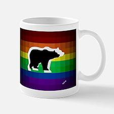 gay rainbow bears art Mugs