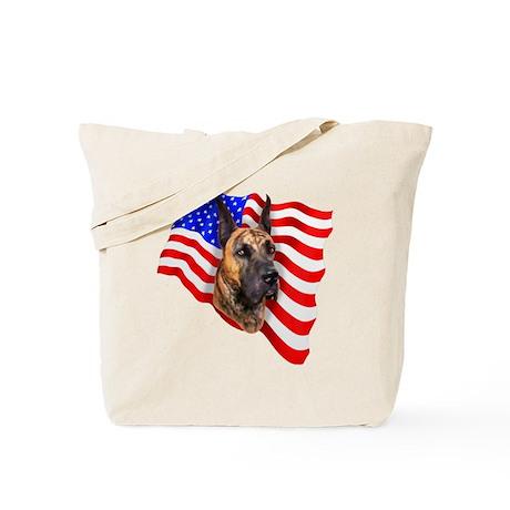Brindle Patriot Dane Tote Bag
