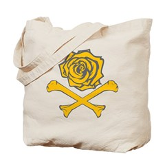 Rose and Crossbones Tote Bag