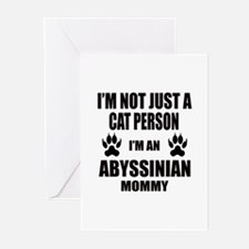 I'm an Abyssinian Mommy Greeting Cards (Pk of 10)