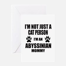 I'm an Abyssinian Mommy Greeting Card