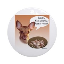 Chihuahua Turkey Ornament (Round)