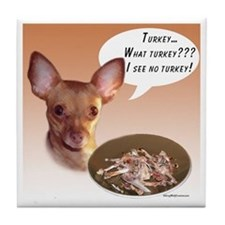 Chihuahua Turkey Tile Coaster