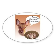 Chihuahua Turkey Oval Decal