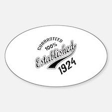 Guaranteed 100% Established 1924 Decal