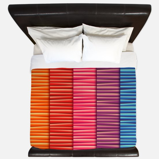 Rainbow Striped Pattern King Duvet