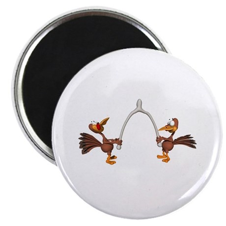 Turkeys Making Wish (Wishbone) Magnet