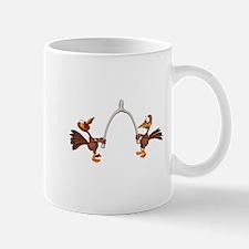Turkeys Making Wish (Wishbone) Mug