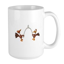 Turkeys Making Wish (Wishbone) Mug