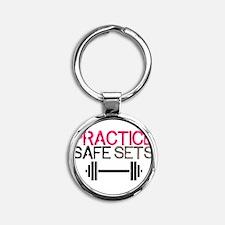 Practice Safe Sets Keychains