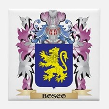 Bosco Coat of Arms (Family Crest) Tile Coaster