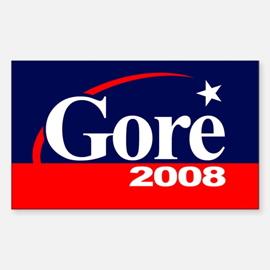 AL GORE PRESIDENT 2008 Rectangle Decal